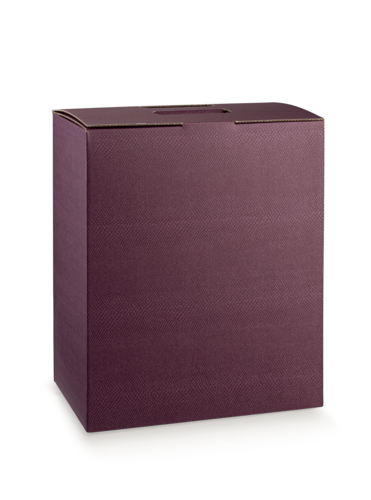 Image du produit Valisette Riga carton aspect cuir lie de vin 6 bouteilles (sans fenêtre)