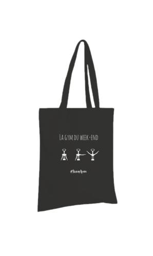 Image du produit Sac tote bag Chelsea toile coton noir - La gym du week-end