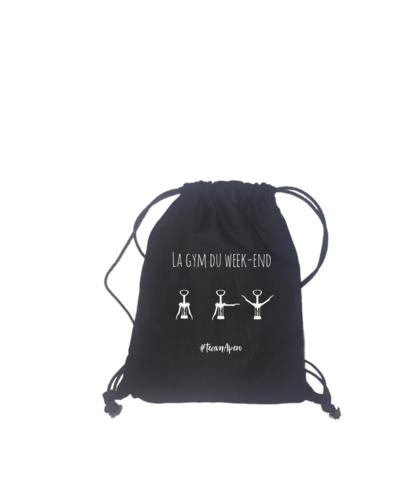 Image du produit Sac à dos backbag Auckland toile coton noir -  La gym du week-end
