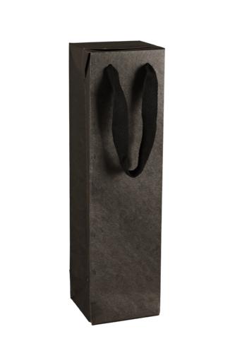 Image du produit Sac boite Chicago kraft noir mat 1 bouteille - FSC7