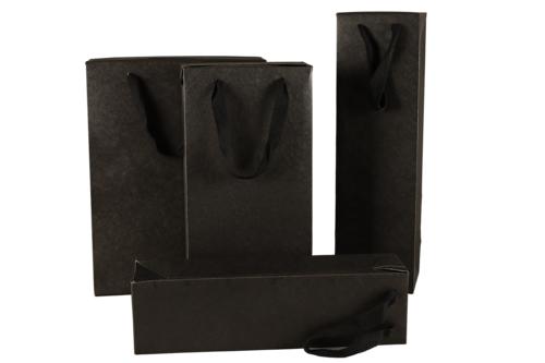 Image du produit Sac boite Chicago kraft noir mat Magnum - FSC7