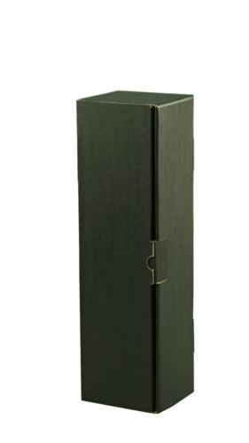 Image du produit Coffret Chicago carton kraft lisse noir 1 bouteille