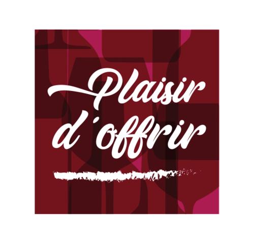 Image du produit Etiquette adhésive carrée bordeaux/blanc - Plaisir d'Offrir (boîte de 500)