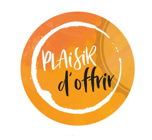 Image du produit Etiquette adhésive ronde orange/blanc - Plaisir d'Offrir (boîte de 500)