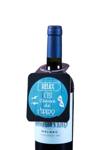Image du produit Carte message/goulot Victoria disque anti-goutte - Relax c'est l'heure de...