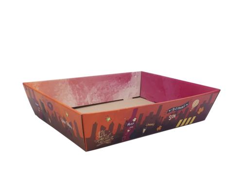 Image du produit Corbeille Burano carton décoré 37x28x8cm